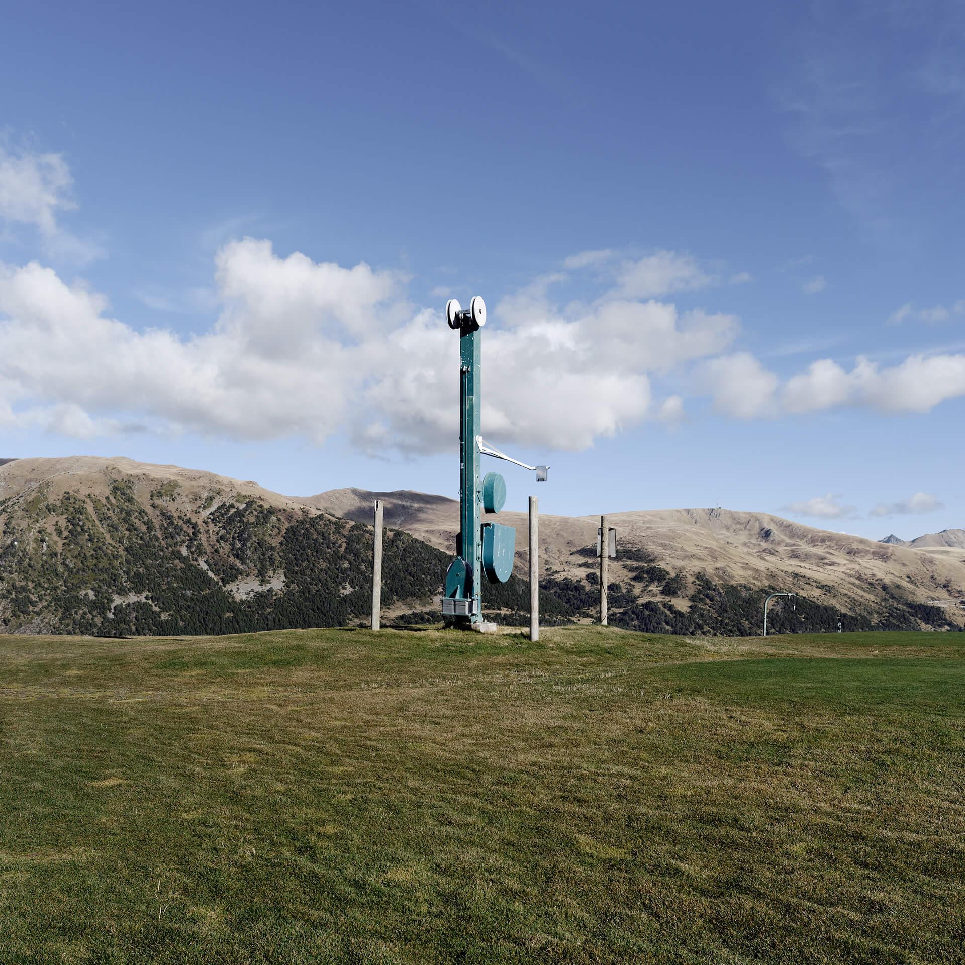 Mécanisme de remontées mécaniques, station d'Andorre.